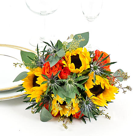 Wedding Collection Fall Sunflower, Bridesmaid Bouquets (Choose 2 or 3 pieces)