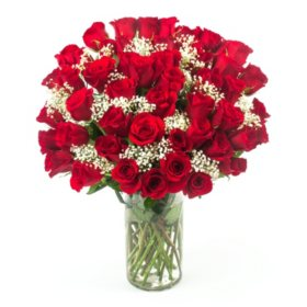"Hopelessly in Love"" Red Rose Bouquet (50 stems)"