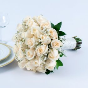 Wedding Collection - White Rose (One Bridal Bouquet)