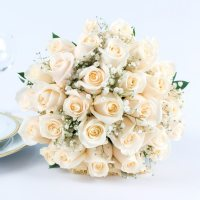 Wedding Collection White Rose (Choose from 10, 17, 23, 33, or 43 Piece)