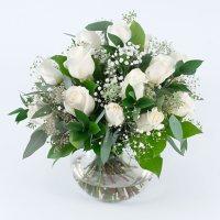 Wedding Collection White Rose, Centerpieces (6 pieces)