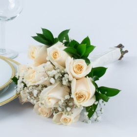 White Rose Wedding Collection - Bridesmaid Bouquets (2 pc.)