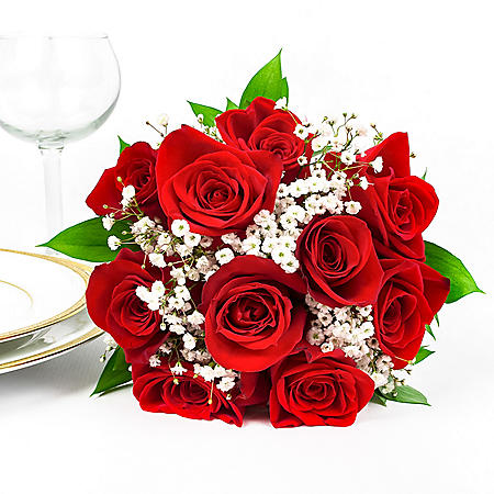 Red Rose Wedding Bouqet.Wedding Collection Red Rose Bridesmaid Bouquets Choose 2