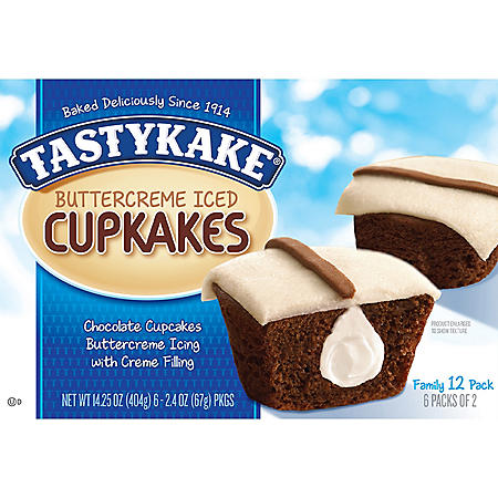 Tastykake Creme-Filled Buttercreme Cupcakes (2.4oz / 6pk)