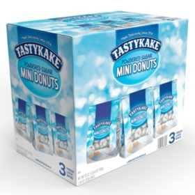 Tastykake Powdered Sugar Mini Donuts (10oz / 3pk)