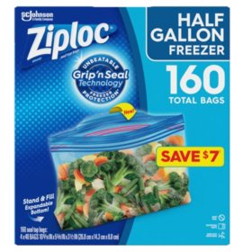 Ziploc Half Gallon Freezer Bags (160 ct.)