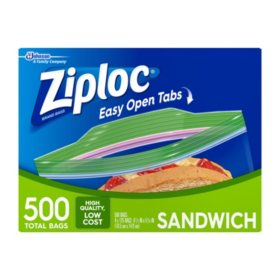 Ziploc Easy Open Tabs Sandwich Bags (500 ct.)