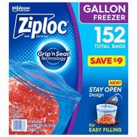 Ziploc Easy Open Tabs Freezer Gallon Bags  (152 ct.)