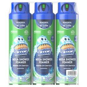 Scrubbing Bubbles Mega Shower Foamer Aerosol, Rainshower, 20 oz, 3 ct