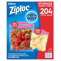 Ziploc® Brand Storage Gallon and Storage Quart Bags with Grip 'n Seal Technology, 204 ct.