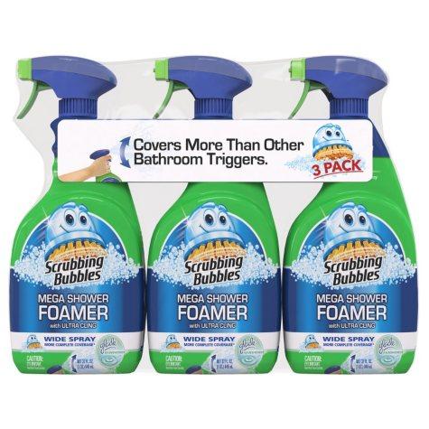 Scrubbing Bubbles Mega Shower Foamer with Ultra Cling (32 oz., 3 pk.)