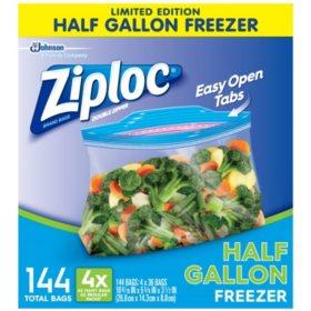 Ziploc Half Gallon Freezer Bags (144 ct.)