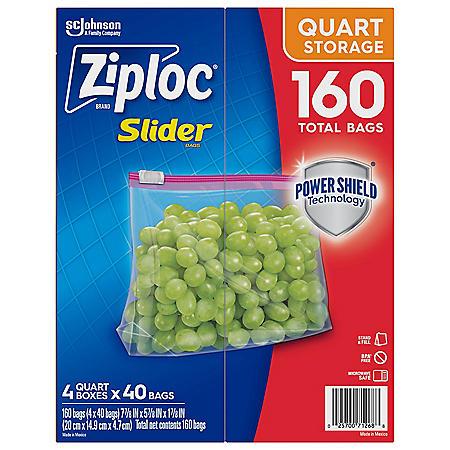 Ziploc Storage Slider Quart Bags (160 ct.)