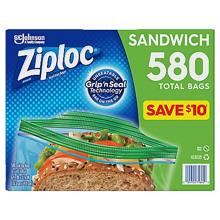 Ziploc Sandwich Bag (580 ct.)