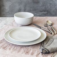 Overandback 24-Piece Fluted Dinnerware Set