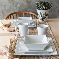 Overandback 32-Piece Ribbed Dinnerware Set