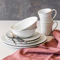 Overandback 32-Piece Embossed Dinnerware Set