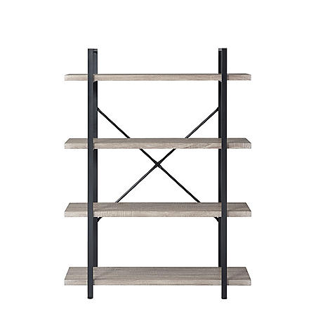 4-Shelf Vintage Industrial Bookshelf