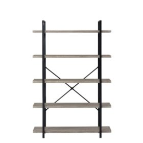 5-Shelf Vintage Industrial Bookshelf