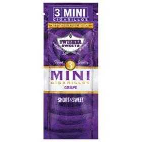 Swisher Sweets Cigarillo, Mini Grape, Pre-Priced Buy 2 Get 3 Pk. (3 pk., 15 ct.)