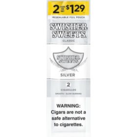 Swisher Sweets Silver Cigarillos Pre-Priced 2/.1.29 (30 ct.)