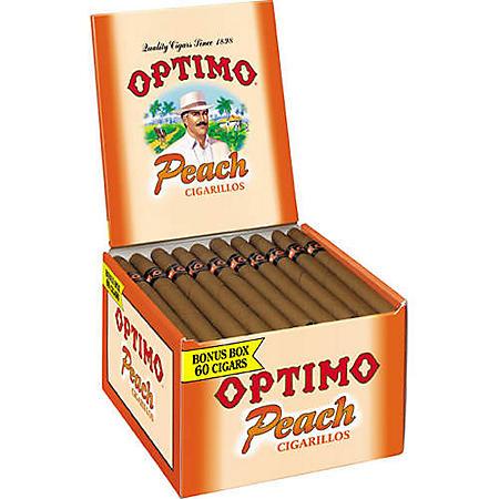 Optimo Peach Cigarillos - 60 ct.