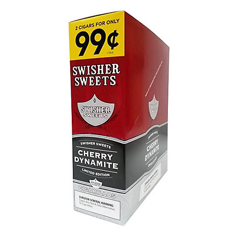 Swisher Sweets Cigarillos, Cherry Dynamite, Prepriced 2 for $.99 (2 per pk., 30 ct.)