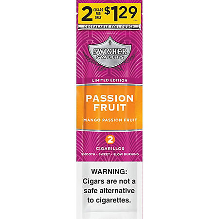 Swisher Sweets Passion Fruit Cigars 2/$1.29 (2 pk., 30 ct.)
