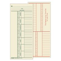 Tops 2-Sided Weekly Time Cards