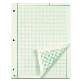 TOPS - Engineering Computation Pad - Quad Rule - Letter - Green - 100 Sheets/Pad