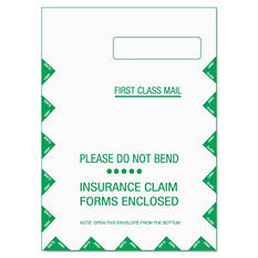 "TOPS CMS-1500 Claim Form Self-Seal Window Envelope, 9"" x 12.5"" (500 ct.)"