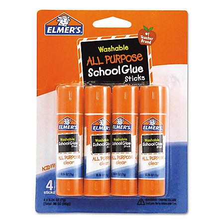 Elmer's Washable All-Purpose School Glue Sticks (4 Pack)