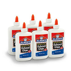 Elmer's Liquid School Glue, Washable, Great For Making Slime, 7.6 oz., 6 Count