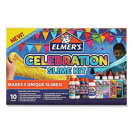 Elmer's Celebration Slime Kit, Slime Supplies 10 Piece Kit