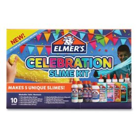 Elmer's Celebration Slime Kit, Slime Supplies 10 Piece Kit