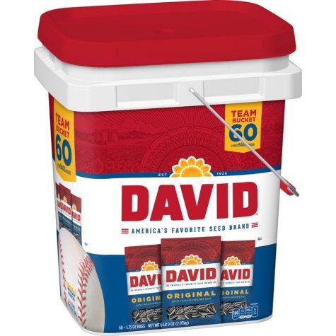 David Sunflower Seed Bucket - 1.75 oz. pk. - 60 ct.