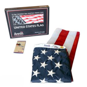 Annin - American Flag 3x5' Nylon SolarGuard with Sewn Stripes and Embroidered Stars