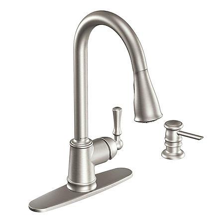 Moen Lancaster Single Handle Pulldown Kitchen Faucet - Stainless Steel