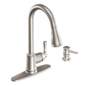 Moen Lancaster Single Handle Pulldown Kitchen Faucet ...