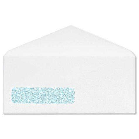 Columbian - Poly-Klear Business Window Envelopes, Securtiy Tint, #10, White - 500/Box