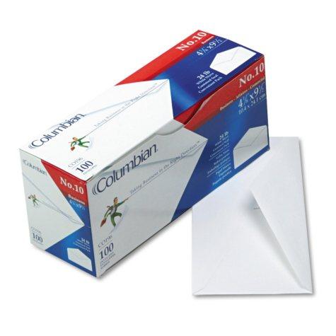 Columbian - Gummed Seal Business Envelope, Executive Style, #10, White - 100/Box