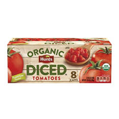 Hunt's Organic Diced Tomatoes (14.5 oz. cans, 8 pk.)