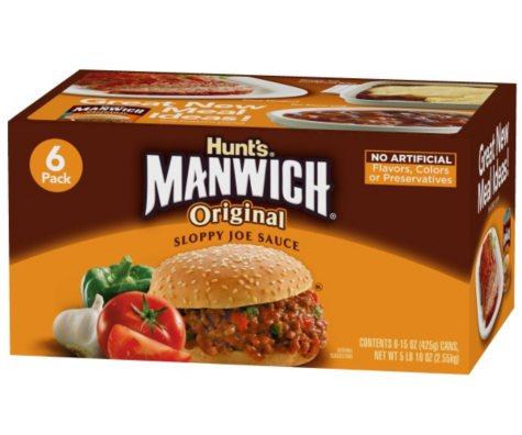 Manwich Sloppy Joe Mix - 6 pk. - 15 oz. cans