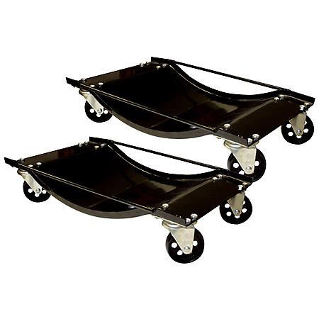 Black Bull 2 Piece Steel Car Dolly Set
