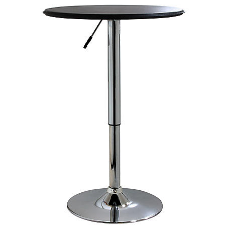 AmeriHome Classic Round Adjustable-Height Bistro Table