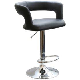 AmeriHome Modern Adjustable-Height Curvy Bar Stool