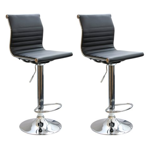 AmeriHome Adjustable-Height Contemporary Bar Stools (Set of 2)