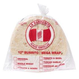 La Banderita Mega Wrap Flour Tortillas (12in, 24ct)