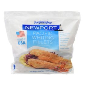 Pacific Seafood Newport Pacific Whiting Fillets, Frozen (4 lbs.)