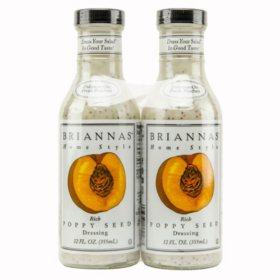 Briannas Poppy Seed Dressing (12 oz., 2 pk.)